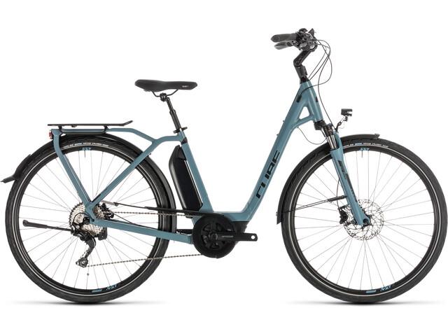 Cube Town Sport Hybrid Pro 400 Rower elektryczny miejski Easy Entry niebieski/petrol